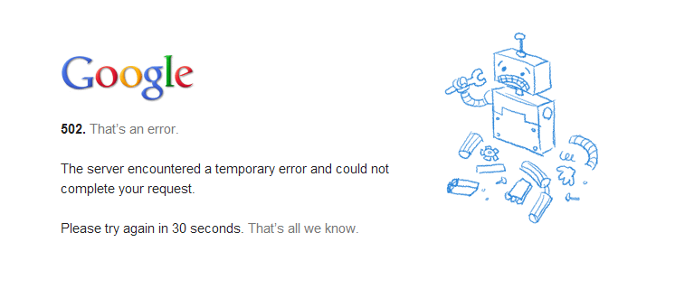 Google 502